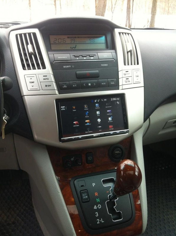 lexus rx330 car navigation audio system